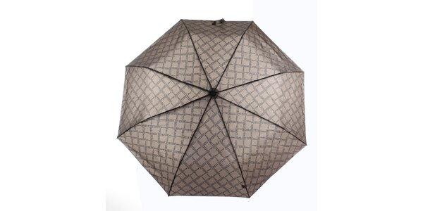 Pánský hnědý deštník s potiskem loga Ferré Milano
