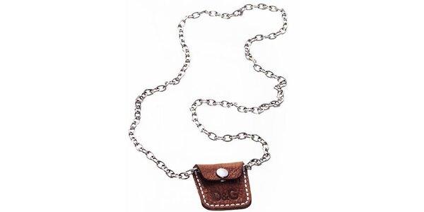 Ocelový náhrdelník s kapsičkou Dolce&Gabbana