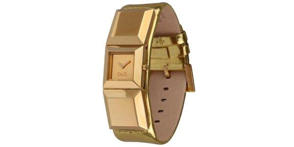 Dámské zlaté náramkové hodinky Dolce&Gabbana