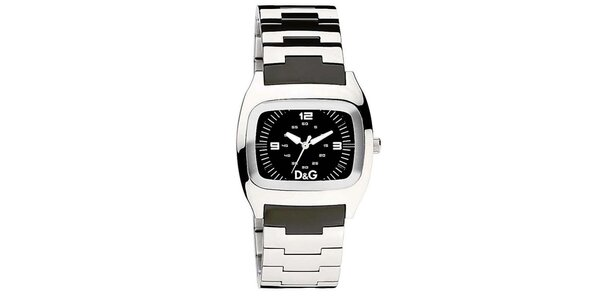 Dámské ocelové hodinky s černým ciferníkem Dolce & Gabbana