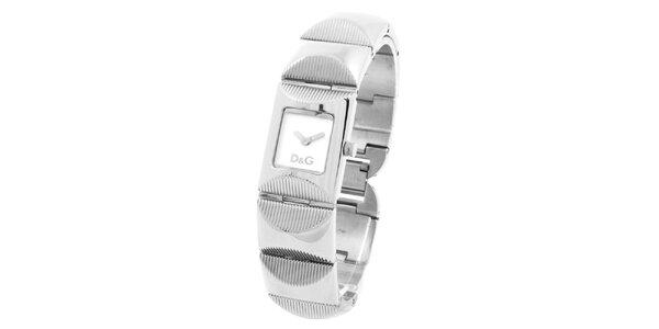 Dámské ocelové hodinky s reliéfním řemínkem Dolce&Gabbana