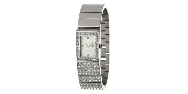 Dámské ocelové hodinky s krystaly Dolce&Gabbana