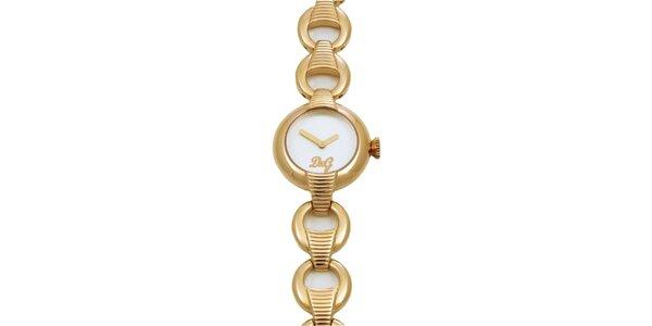 Dámské ocelové náramkové hodinky Dolce & Gabbana ve zlaté barvě