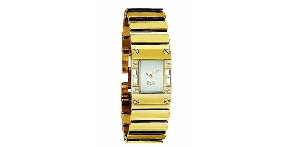 Dámské ocelové náramkové hodinky v barvě zlata Dolce & Gabbana