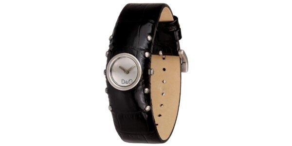 Dámské černé hodinky s cvočky Dolce&Gabbana