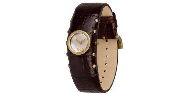 Dámské hnědé hodinky s cvočky Dolce&Gabbana