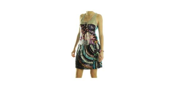 Dámské pestrobarevné šaty Custo Barcelona s potiskem