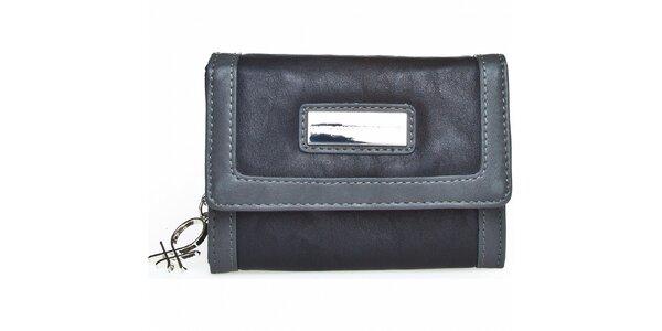 Dámská černo-šedá peněženka Benetton