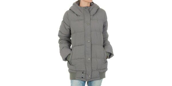 Dámská šedá bunda Bench s kapucí