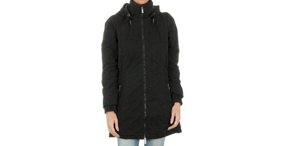 Dámský černý kabát Bench na zip