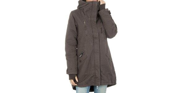 Dámský hnědý kabát Bench s kapucí