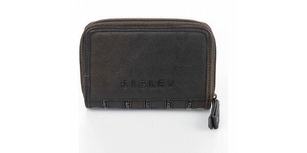 Dámská tmavě hnědá peněženka Sisley