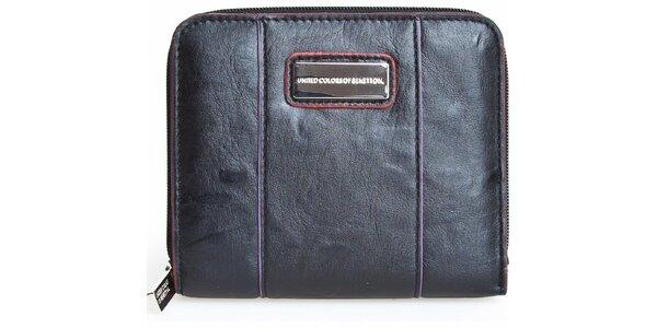 Černá peněženka Benetton s barevnými detaily