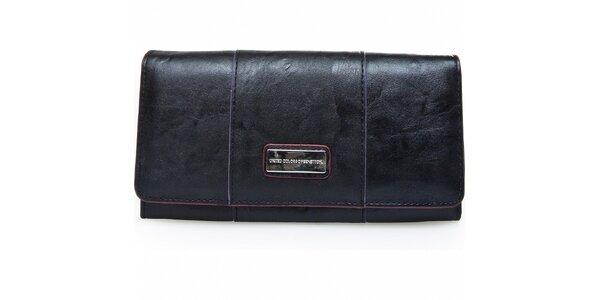 Dámská černá peněženka Benetton s barevnými detaily