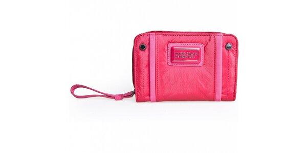 Dámská růžová nylonová peněženka Benetton