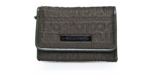 Dámská tmavě šedá prošívaná peněženka Benetton