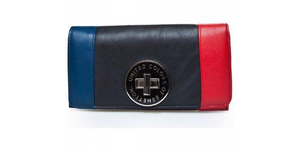 Dámská velká trojbarevná peněženka Benetton