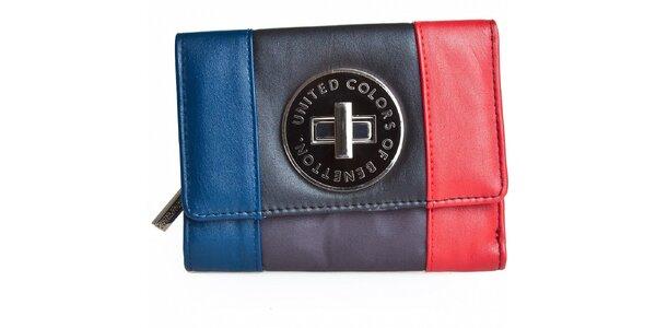 Dámská malá trojbarevná peněženka Benetton