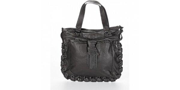 Dámská tmavě šedá kabelka Fornarina s třásněmi