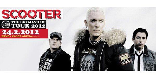 Vstupenky na koncert kapely Scooter!