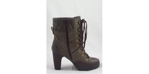 Dámské hnědé kotníčkové boty Tom Tailor