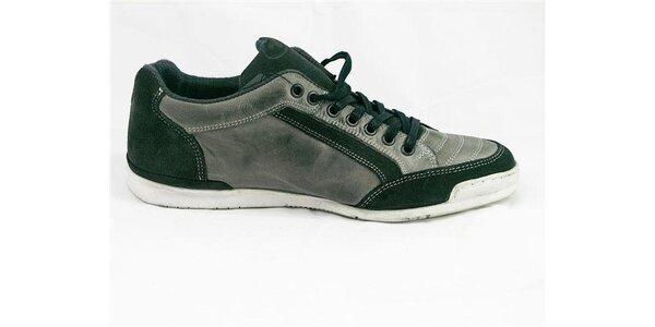 Pánské šedo-zelené tenisky Tom Tailor
