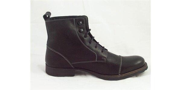 Pánské černé kotníčkové boty Tom Tailor