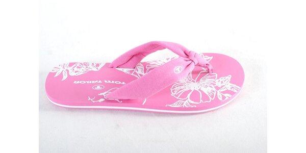 Dámské růžové žabky Tom Tailor