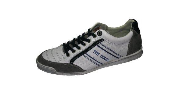 Pánské bílo-šedé tenisky Tom Tailor