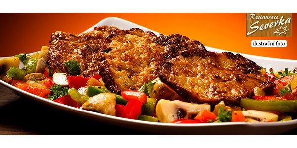 Dva poctivé steaky se vším všudy dle chuti