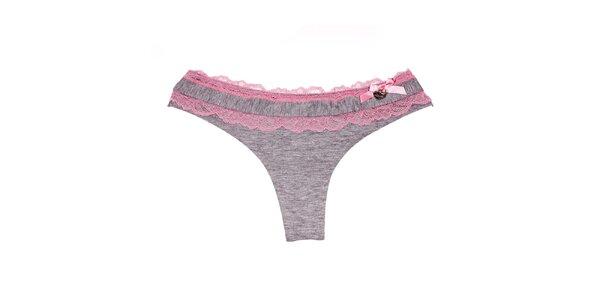 Spodní kalhotky značky Bacirubati šedé barvy