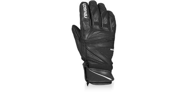 Pánské černé profesionální sjezdové rukavice Reusch