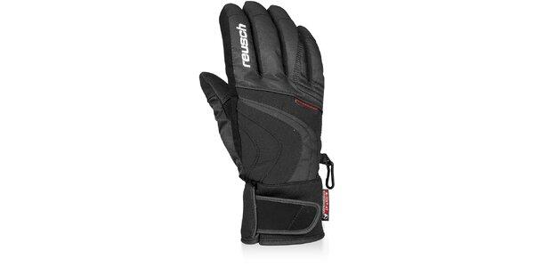 Pánské černé sjezdové rukavice Reusch s membránou