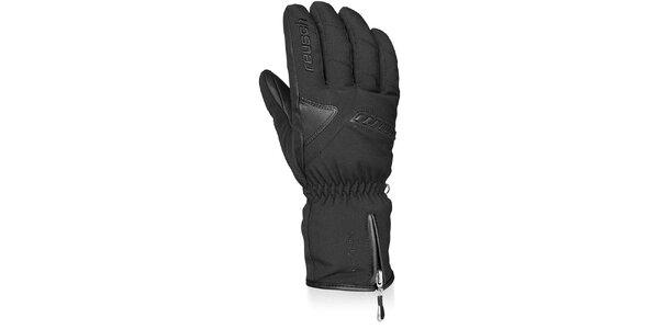 Pánské černé lyžařské rukavice Reusch s membránou
