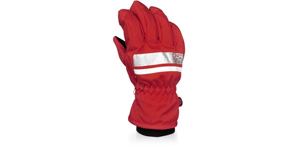 Dětské červené lyžařské rukavice