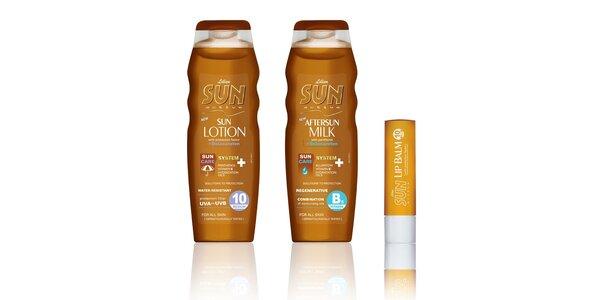 SUN Active spf 10+mléko po opal.+pomáda