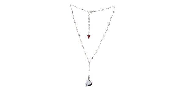 Dámský ocelový náhrdelník Guess se srdíčkem