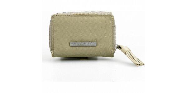 Dámská šedozelená peněženka Sisley