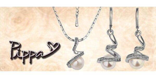 Perlový set náušnic a náhrdelníku