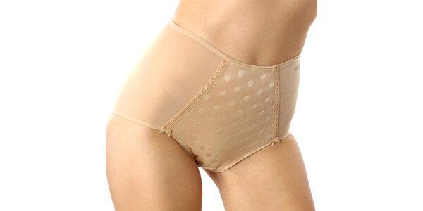 Dámské tělové vysoké kalhotky s puntíky DKNY