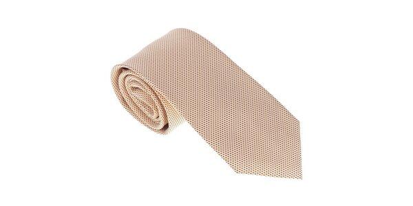 Luxusní okrová kravata Castellet Barcelona