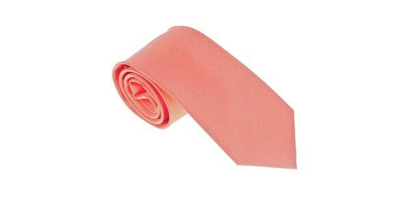 Luxusní pastelově oranžová kravata Castellet Barcelona