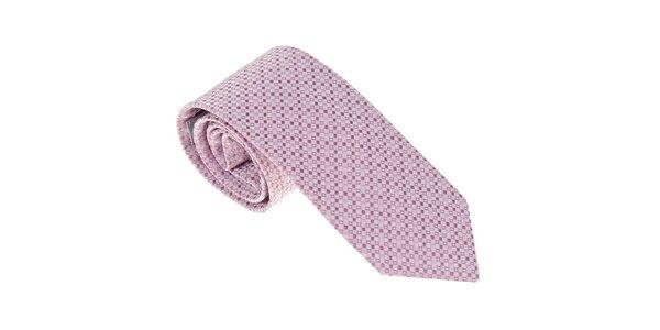 Luxusní růžová kravata s detaily Castellet Barcelona