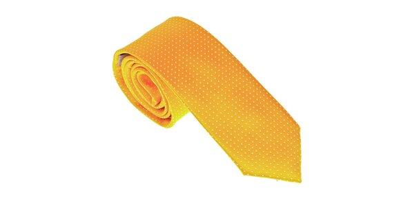 Luxusní žlutá kravata Castellet Barcelona