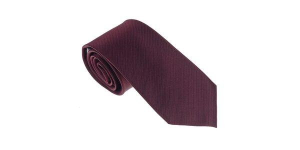 Luxusní tmavě rudá kravata Castellet Barcelona