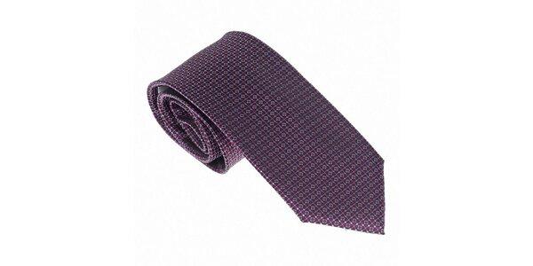 Luxusní fialovomodrá kravata Castellet Barcelona