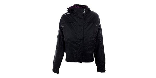 Dámská černá bunda s kapucí Authority