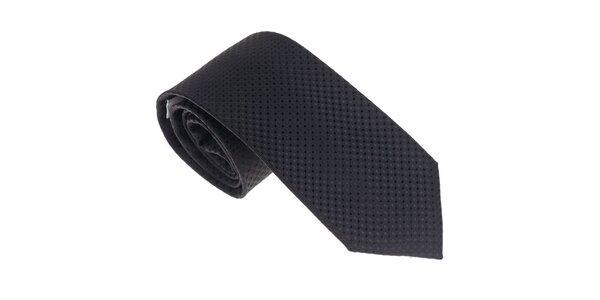 Luxusní černá kravata Castellet Barcelona