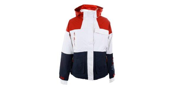 Dámská červeno-modro-bílá bunda Authority