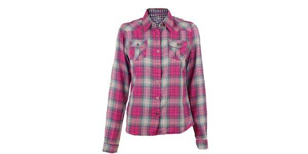 Dámská růžově kostkovaná košile Authority